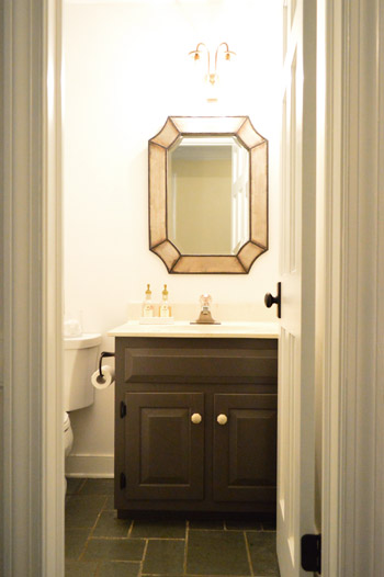 painting our bathroom vanity twice to get it right - Painting Bathroom Cabinets Brown