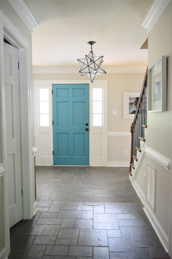 Young House Love Foyer Door : How to add extra beefy crown molding young house love