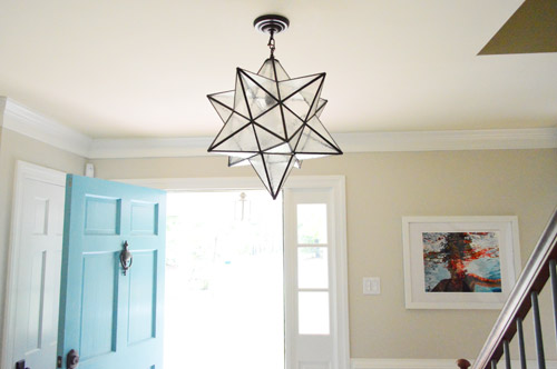 We found this light at the local lighting outlet here in Richmond called  The Decorating Outlet for $135 (down from $455 at Shades of Light, just  because it ... - Hanging A Moravian Star Light In The Foyer Young House Love