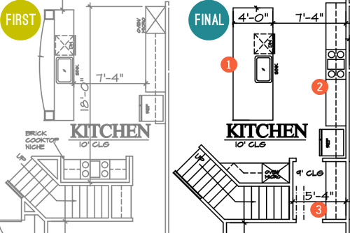 How To Lay Out A Kitchen Floor Plan: Laying Showhouse Plans