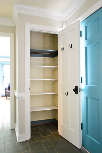 Converting an extra coat closet into organized toy storage for Extra closet storage