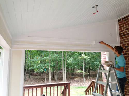Adding Exterior Trim Caulking And Painting Young House Love