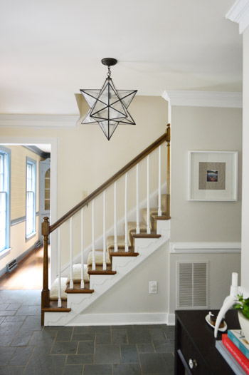 Young House Love Foyer Light : Stairs a novelty to ranch owners everywhere young house