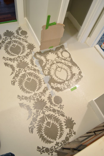 How To Stencil A Floor | Young House Love