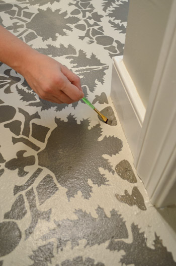 how to stencil a floor young house love