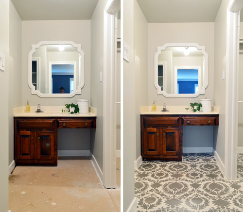 Can You Paint Over Bathroom Wall Tiles: How To Stencil A Floor
