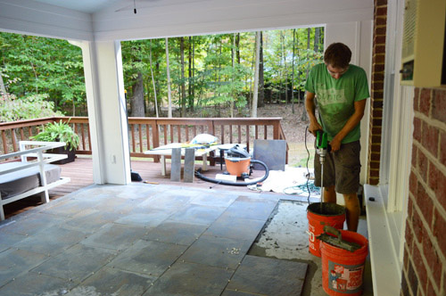 Tiling Cleaning And Grouting An Outdoor Area Young House Love
