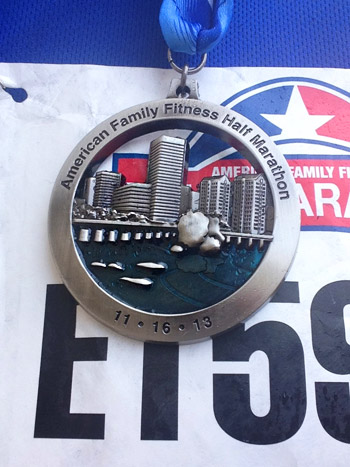 medal for richmond half marathon 2013