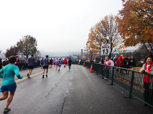mile 13 richmond half marathon finish
