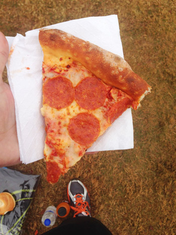 post race pizza for richmond half marathon