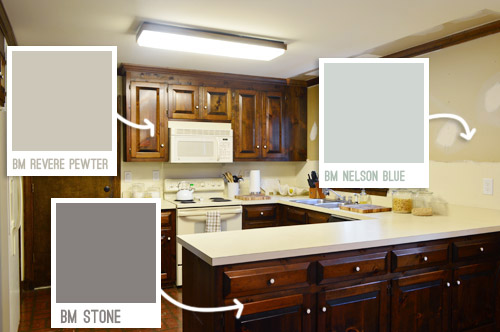 Removing some kitchen cabinets rehanging one young - Putty colored kitchen cabinets ...