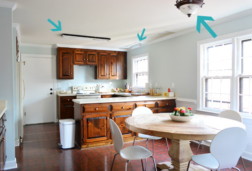 Three New Kitchen Lights Young House Love - Kitchen light fixtures to replace fluorescent