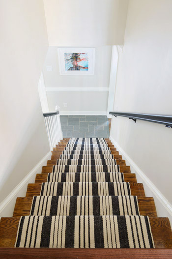 Lighting Basement Washroom Stairs: How To Install A Stair Runner Yourself!