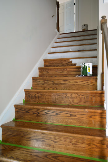 Marvelous Priming And Painting Wood Stair Risers White