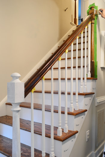 Beau Painting Wood Stair Ballasts White