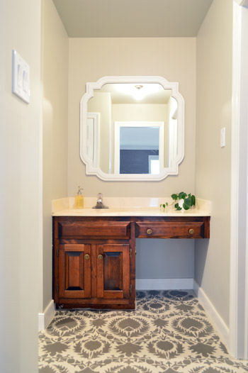 Call It Vanity Call It Shelfishness Young House Love - Bathroom vanities with shelves