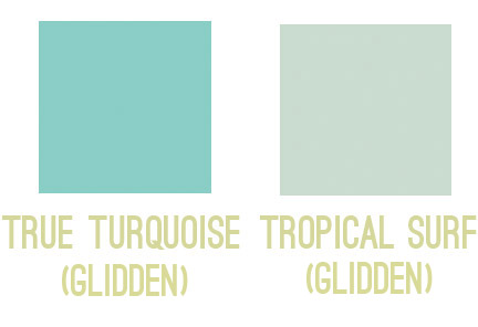 Aqua Paint Colors pick this, not that: finding the right paint colors | young house love