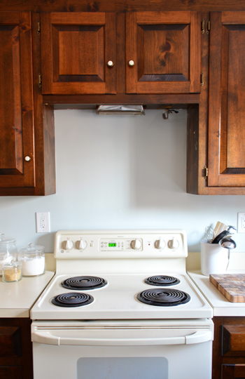 replacing a hanging microwave with a range hood