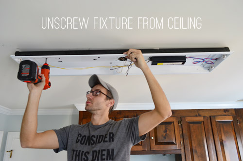 How To Replace Fluorescent Lighting With A Pendant Fixture Young - Replace fluorescent light fixture in kitchen