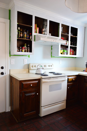 Painting Our Upper Cabinets White Young House Love