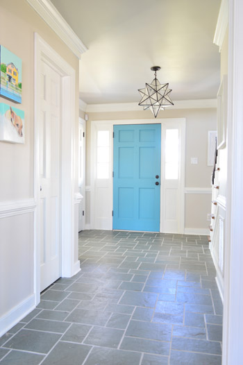 Young House Love Foyer Door : Making old discolored grout look like new young house love