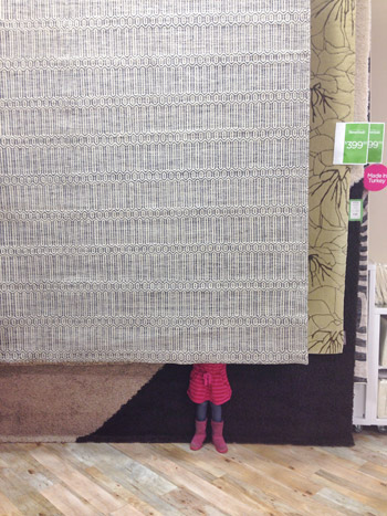Within Five Minutes We Were Checking Out With It And Stuffing Into The Car S An 8 X 10 100 Wool Martha Rug By Safavieh Retails For