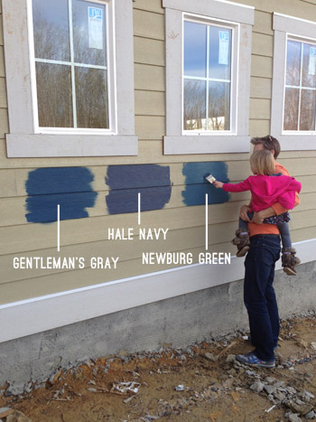 Exterior Paint Colors Blue picking an exterior paint color | young house love