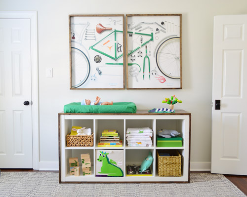 An Easy Ikea Hack: Bookcase To Wood-Wrapped Changing Table