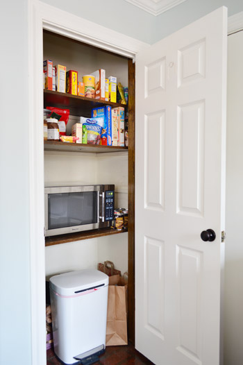 Microwave Pantry Cabinet With Adding Extra Shelves And A To The Young House Love