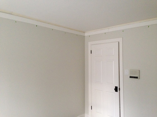 the second involved hanging actual crown molding we got nice beefy 4 58u2033 stuff from home depot right over the baseboard for that extra chunky
