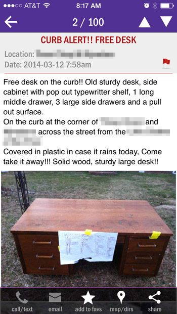 Updating A Craigslist Desk For Our Office