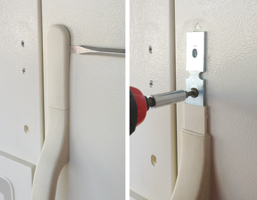 removing handles from refrigerator for painting