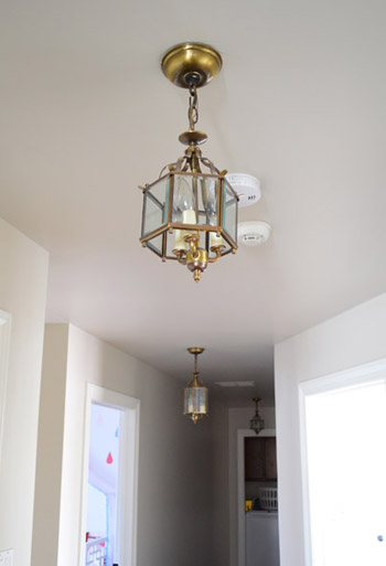 lighting for hallway. three oversized lantern lights for the hallway lighting e