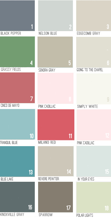 Young House Love Paint Colors