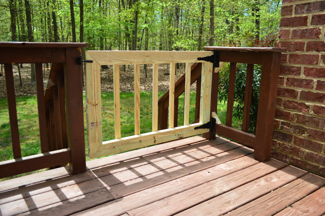 Deckgate literally how to make a deck gate young for Building a front porch deck