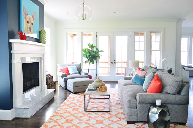 We Had Always Wanted The Fireplace To Be Focal Point Of Living Room So Went With Hale Navy By Benjamin Moore Anchor That Wall