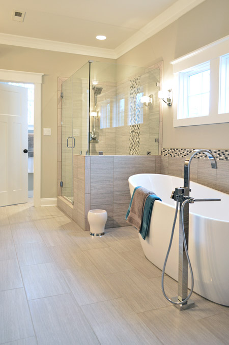House crashing the whole show young house love for Bathroom half wall tile
