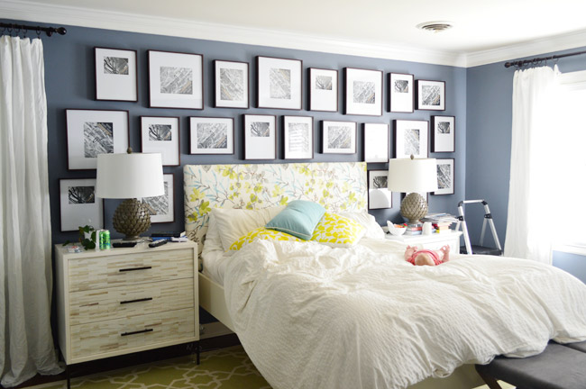 Spectacular Making A Frame Gallery Wall Over Our Bed