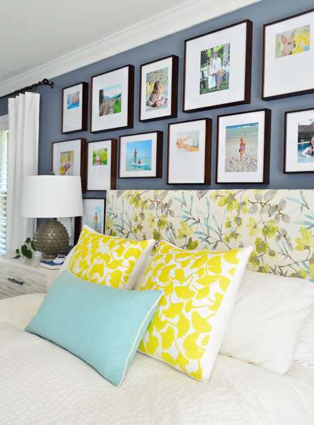 Making A Frame Gallery Wall Over Our Bed | Young House Love