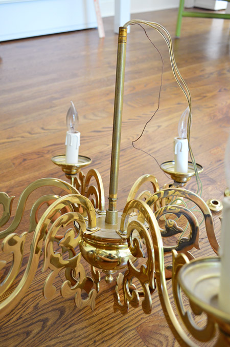 Elegant My goal was to reassemble most but not all of the pieces into something that still looked like a chandelier but was several inches shorter than the