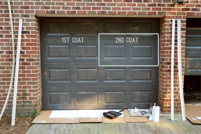 Great Garage Door Repaint Ideas   Painting Our Garage Doors A Richer Deeper Color