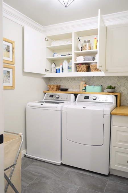 Woot our big laundry room renovation is done young for Laundry room renovation