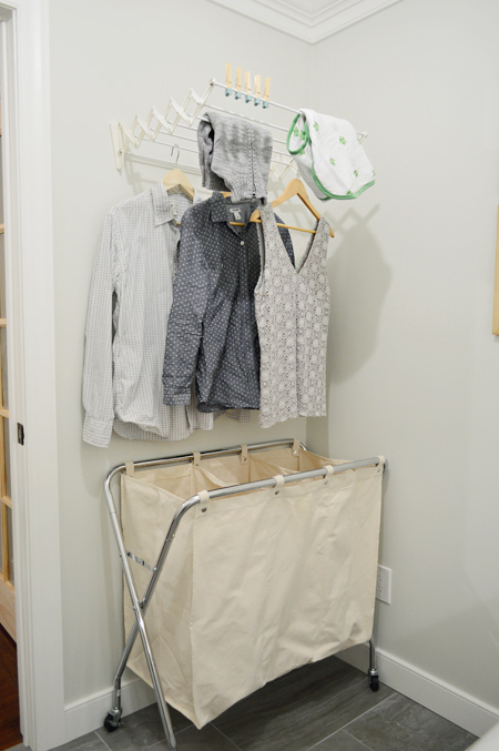 Woot our big laundry room renovation is done young - Hanging rack for laundry room ...