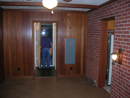 How to paint wood paneling young house love Priming walls before painting