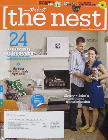 cover feature young house love on the nest magazine