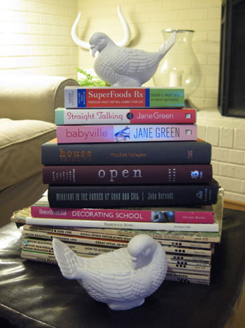 yard-sale-spoils-steals-and-deals-cheap-books-and-ceramic-birds