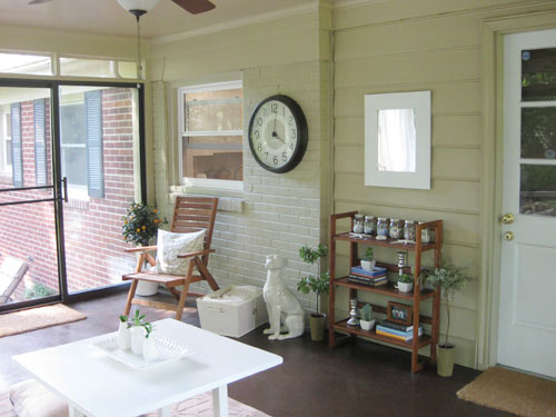 painting-a-brick-sunroom-wall