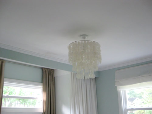 painting our bedroom ceiling a soft green color young house love. Black Bedroom Furniture Sets. Home Design Ideas