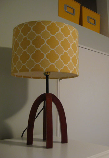 How To Recover A Lamp Shade With Patterned Fabric Young House Love
