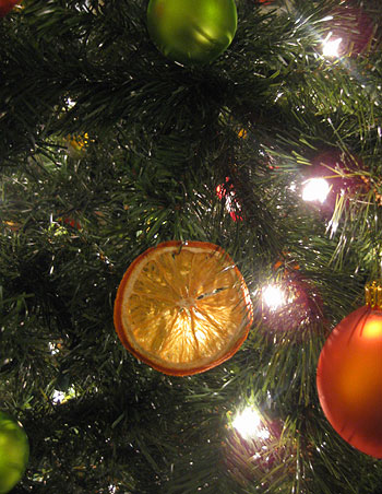 Citrus Christmas Tree Making Dried Orange Slice Ornaments Young